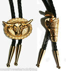 Gold Gun & Holster Western Cowboy Boot Lace Bolo Tie Or Oval Bull Head