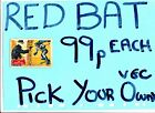 Batman Red Bat A&BC Gum Cards VGC  EACH JUST PICK THE CARDS YOU NEED  99p each