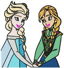 """Disney Frozen Machine-Embroidered 7"""" Fabric Squares Blocks Quilt Crafts Bags"""