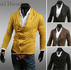 New Man Wild Simple Fashion Solid Color Long Sleeve Sweater Rowan Coat Cardigan