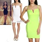 Strapped Skirt Dress Deep V Womens Fit Sleevelss Tops Clubwear Backless N98B