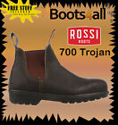 Rossi Work Boots Trojan (700) Steel Toe Safety Brown Elastic Sided Boots
