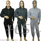 New Mens Full Tracksuit Fleece Drawstring Hooded Jogging Bottm Joggers S M L XL