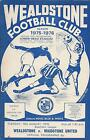 Wealdstone FC Home Programmes 1975-76 Southern League Premier, FA Cup & Trophy