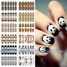 Luminous Glow Full WRAPS Leopard Tiger Animal Nail Art Stickers Tips DIY Decals