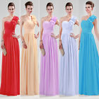 Sexy 1Shoulder Long Wedding Brides Evening Party Cocktail Ball Gown Formal Dress