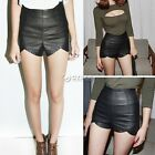 Sexy High Waist Faux Leather Short Pants Slim Fit Asymetric Hot Shorts New DZ88