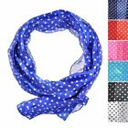 Polka Dot Satin Stripe Women Scarf / Scarves, Back in Fashion Best gift for girl
