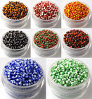 Wholesale!Czech 22g 2mm Round Lot Colorful Glass Seed Beads DIY Jewelry Making