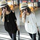 Sexy Womens Off Shoulder Batwing Dolman Sleeve loose Casual Tops T-shirt 2Colors