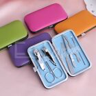 Hot Sell 7pcs Manicure Set Nail Care Clippers Scissors Travel Grooming Kits Case