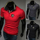 Fashion Men's POLO Shirt Casual Short Sleeve Slim Fit T-Shirts Tops & Tee 4 Size