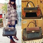 Faux Leather Handbag Shoulder Tote Cross Body Messenger Bag Purse Womens N98B