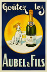 Vintage Aubel & Fils French print poster, large 4 sizes available