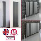 ANTHRACITE SINGLE FLAT PANEL COLUMN VERTICAL HORIZONTAL MODERN DESIGNER RADIATOR