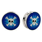 FUN SKULL PAIR Logo Ear Plugs Jewelry Stash Hide Earlet