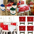 4 X RED WHITE SANTA HAT CHAIR BACK COVERS CHRISTMAS PARTY TABLE SNOWMAN NORDIC