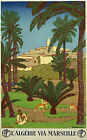 Vintage French Algeria Travel print poster-4 large sizes available