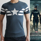 Captain Amercia 2 II The Winter Soldier Cotton Lycra Slim Fit Tee T-Shirt New!