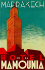 Vintage Hotel Mamounia, Marrakech Travel Ad print poster-4 sizes available