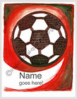 PERSONALIZED SOCCER BALL PICTURES POSTERS PRINT BOYS ROOM WALL ART DECOR GIFTS