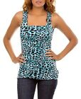Leopard Print Top With Wide Straps - NPC 11080044