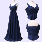 Chiffon Stock Women's Long Bridesmaid Wedding Formal Prom Evening Party Dress V1