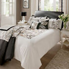 Catherine Lansfield Shrewsbury Black White Floral Duvet Quilt Cover Bedding Set
