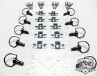 Race Fasteners Quick Release 1/4 Turn Fairing Stainless or Black Chrome 17mm