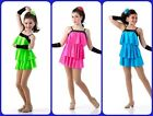 Dance Costume Turquoise COVER GIRLS Jazz Tap Dress Ice Skating Child & Adult Sz