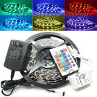 5M 5050 RGB SMD 300 LED Non-waterproof 16 Changing Color Light Strip 12V 2A