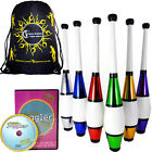 Euro Metallic Juggling Club  Set - 3  Clubs + Club Juggling DVD + Travel Bag