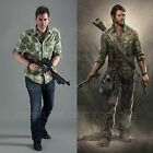 The Last of US Hero Joel Green Checked Vintage Style Cotton T-Shirt M-3XL