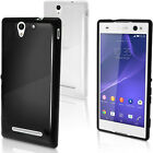 Glossy TPU Gel Skin Case Cover for Sony Xperia C3 D2533 D2502 + Screen Protector