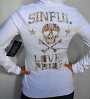 Sinful by Affliction - LOVE & PRIDE - Woman's Hoodie - Jacket - NEW - White