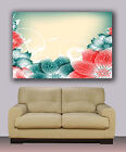 "Huge giclee canvas print. Abstract art 30""x40"" colorful flower painting"