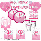 Ballerina Dance Ballet Girls Ultimate Birthday Party Kits Plates, Cups & More!!