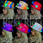 party hats kids - LED Fedora Hat Light-Up Sequins Mens Womens Kids Black Novelty Party Accessories