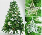 Wire Mesh Set of 2 Balls And 2 Stars Christmas Xmas Tree Hanging Decoration.