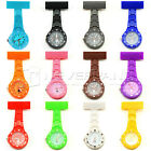 wholesale LOT lady women kid Rubberized Nurse Watch With Pin Non Silicone Watch