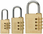 CK Kasp Brass Combination Padlocks, 20mm K11020D or 30mm K11030D or 40mm K11040D