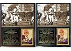Otto Graham Cleveland Browns NFL Champion Hall of Fame Photo Card Plaque $26.95 USD