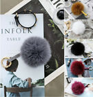 New PA49 Pompom Genuine Dense Fox Fur Ball Key Ring Chain Bag Charm Accessory