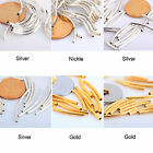 100Pcs Silver/Gold/Nickel/Copper Color Smooth Curved Tube Spacer Beads