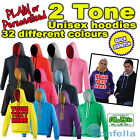 Two Tone Colour Custom Printed Personalised Hoodie - Design your own