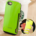 For Apple iPhone Series 4 5S 5 5C 5S 6 6PLUS Card Holder Hard Case Cover