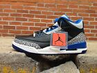 AIR JORDAN RETRO 3 III 136064 007 BLACK SPORT BLUE CEMENT US MENS 885105