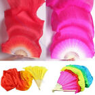 2015 NEW Hot  Hand Made Colorful Belly Dance Dancing Silk Bamboo Long Fans Veils