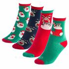 Kids Christmas Socks Fun Novelty Festive Designs Spandex Childrens Childs