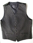 "Piscador man's casual waistcoat 38"" chest Small FADED black gold cotton mix"